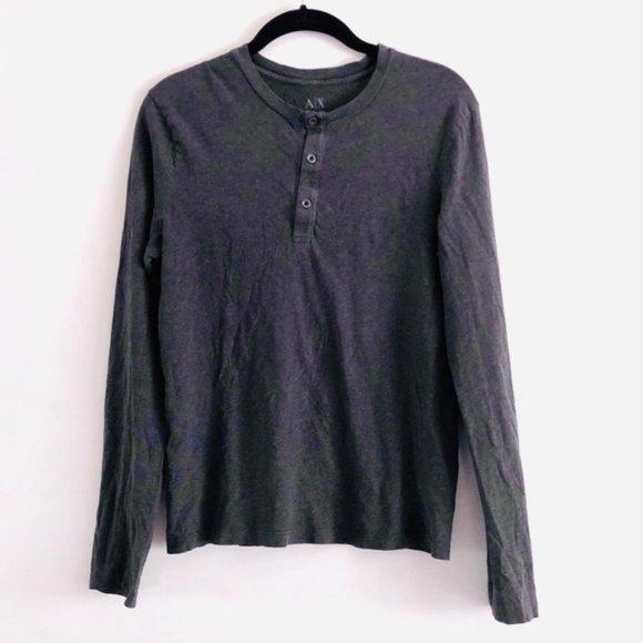 Armani Exchange Other - Armani Exchange Gray 3 Button Long Sleeve Top S